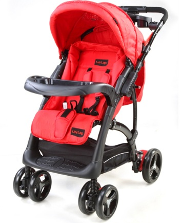Sports Baby Stroller – Red/Black