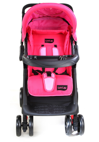 Sports Baby Stroller – Pink/Black